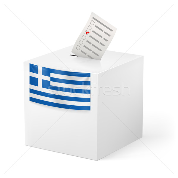Ballot box with voicing paper. Greece Stock photo © dvarg