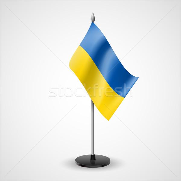 таблице флаг Украина Мир конференции столе Сток-фото © dvarg