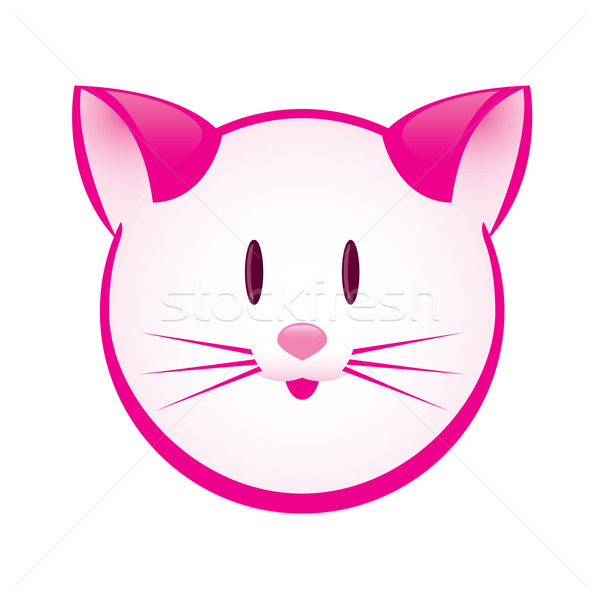 Cartoon gay pink kitty Stock photo © dvarg