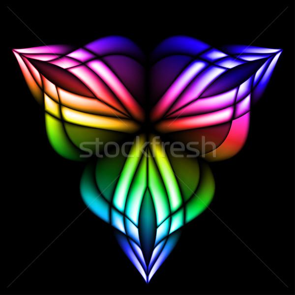 Stain glass flower Stock photo © dvarg