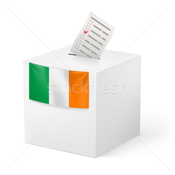 Ballot box with voting paper. Ireland Stock photo © dvarg