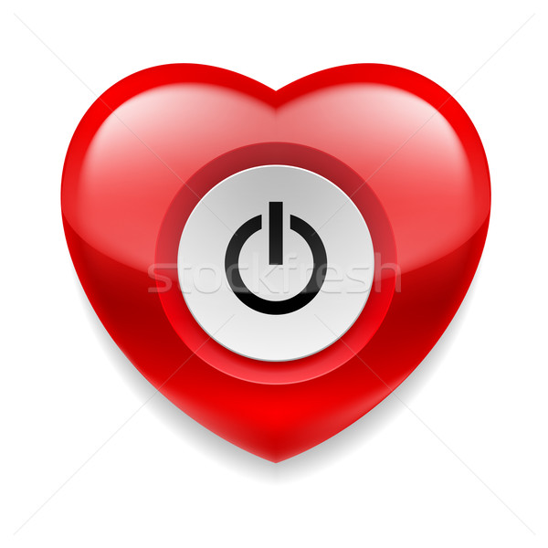 Heart with powe button Stock photo © dvarg