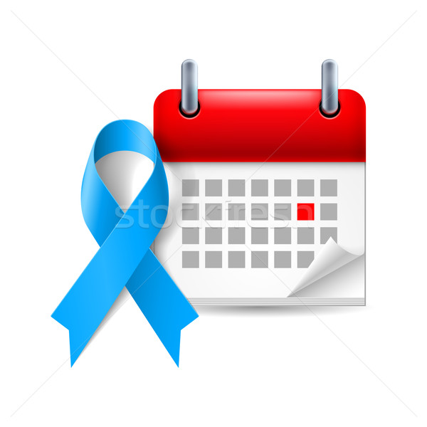 Blue awareness ribbon and calendar Stock photo © dvarg