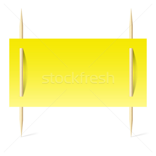 Yellow paper on toothpicks Stock photo © dvarg