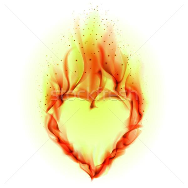 ストックフォト: 中心 · 火災 · 実例 · 白 · デザイン · 抽象的な