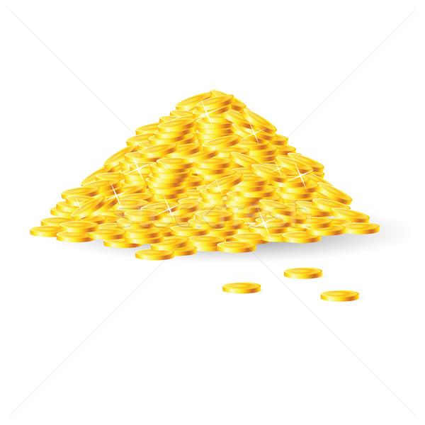 Pile of gold coins Stock photo © dvarg
