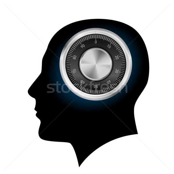 Human head with a combination lock Stock photo © dvarg