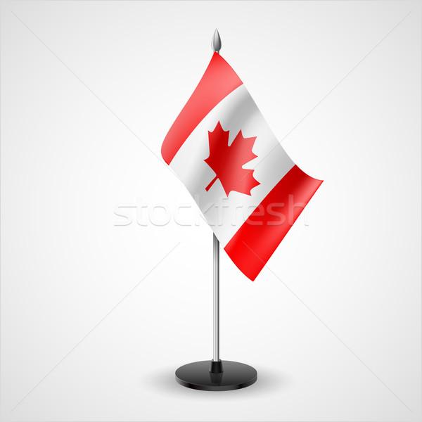 Table flag of Canada Stock photo © dvarg