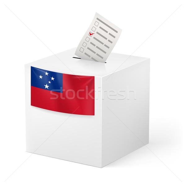 Photo stock: Scrutin · boîte · papier · Samoa · élection