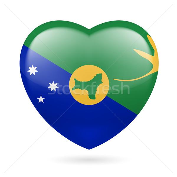 Heart icon of Christmas Island Stock photo © dvarg