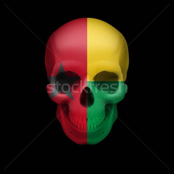 Guinean flag skull Stock photo © dvarg