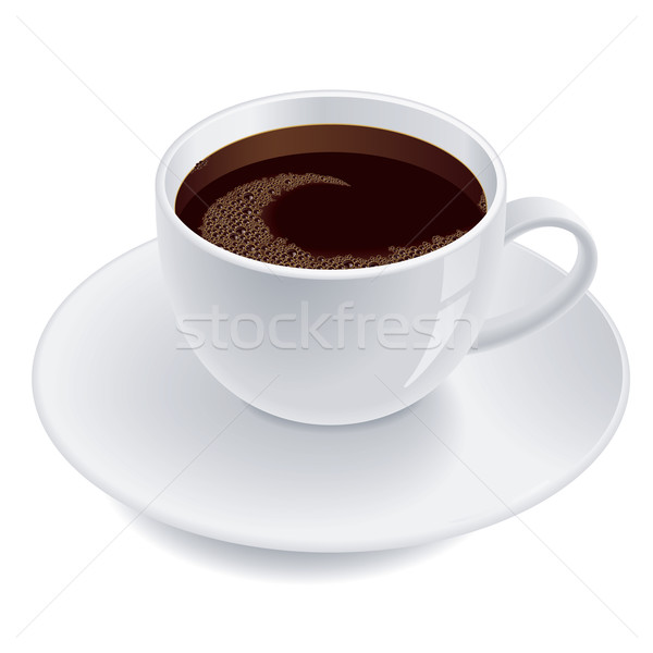 Tasse tasse de café café illustration isolé blanche Photo stock © dvarg