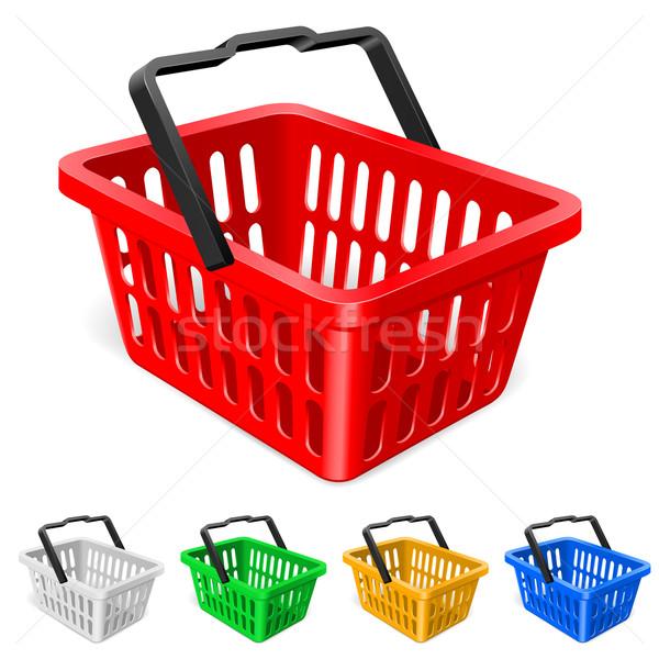 Colorful shopping basket Stock photo © dvarg