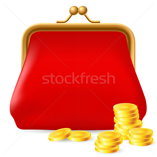 Red purse Stock photo © dvarg