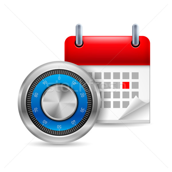 Safe code and calendar Stock photo © dvarg