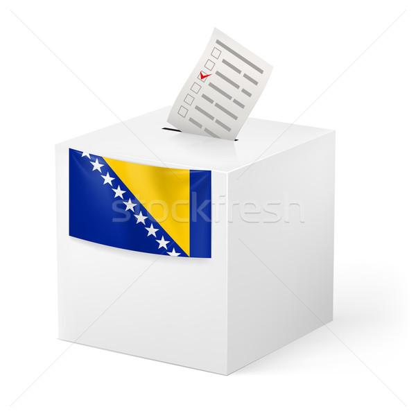 Ballot box with voting paper. Bosnia and Herzegovina Stock photo © dvarg