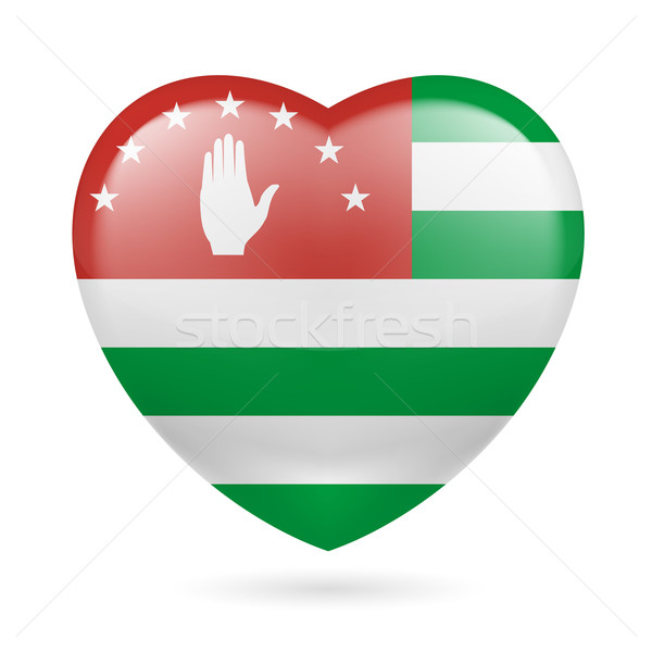 Heart icon of Abkhazia Stock photo © dvarg