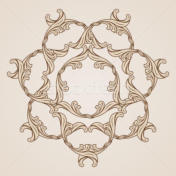 フローラル パターン 装飾的な 実例 光 暗い ストックフォト © dvarg