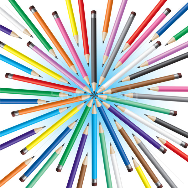 Chaotic pencils Stock photo © dvarg
