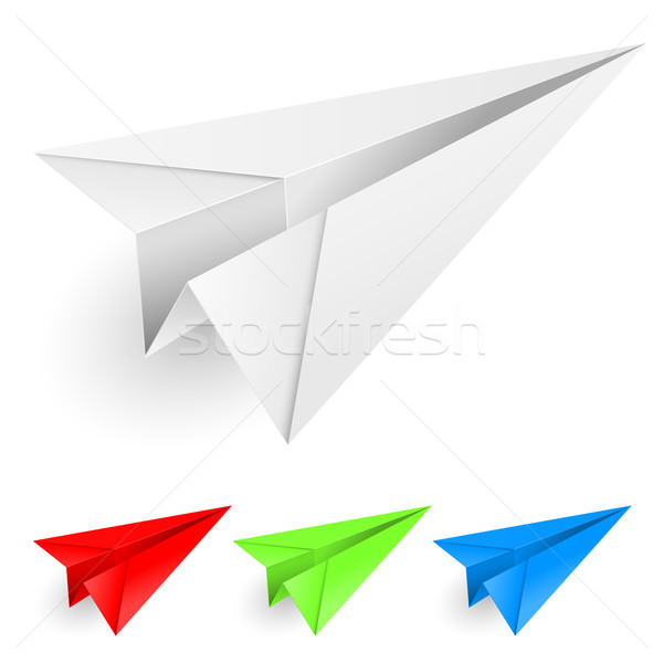 Colorful paper airplanes Stock photo © dvarg