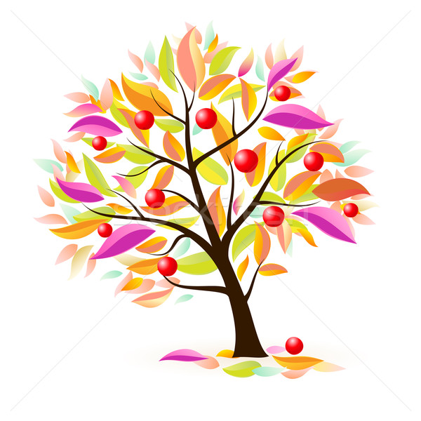 Stylized apple tree Stock photo © dvarg