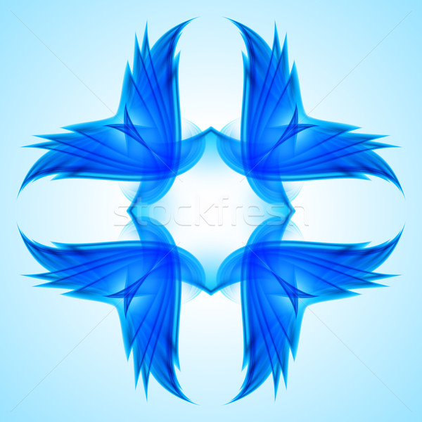 Abstraction blue symbol Stock photo © dvarg