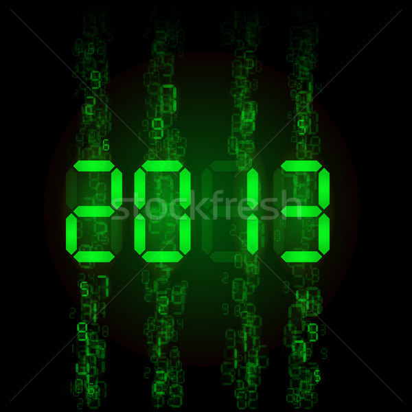 Set of digital numbers Stock photo © dvarg