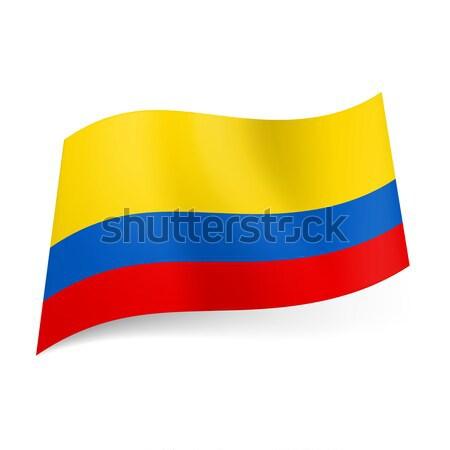Zászló Colombia széles piros keskeny kék Stock fotó © dvarg