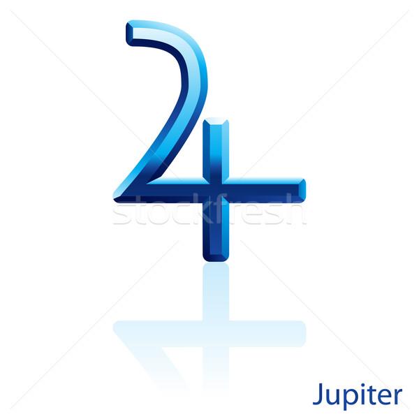 Jupiter sign. Stock photo © dvarg