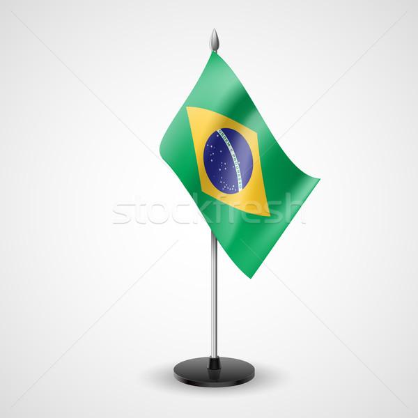 Table flag of Brazil Stock photo © dvarg