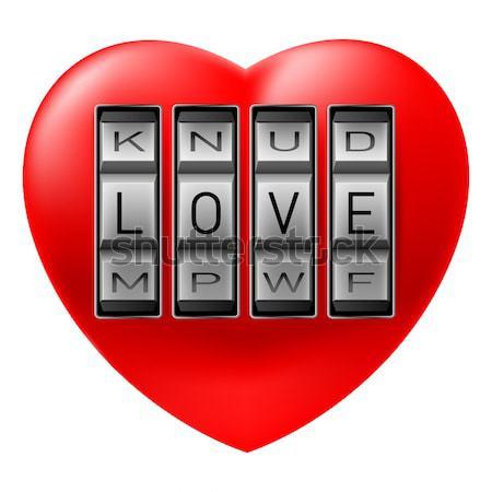 Open  Love heart Stock photo © dvarg