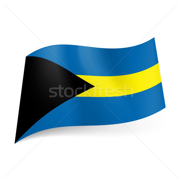 State flag of Bahamas.  Stock photo © dvarg