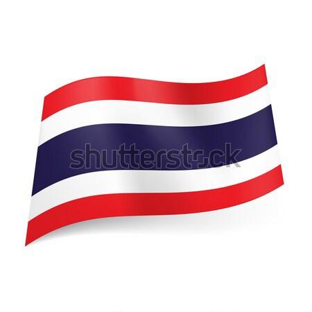 State flag of Thailand. Stock photo © dvarg