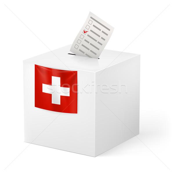 Ballot box with voicing paper. Switzerland Stock photo © dvarg