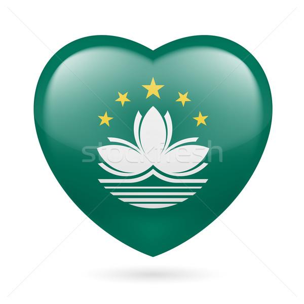 Heart icon of Macau Stock photo © dvarg