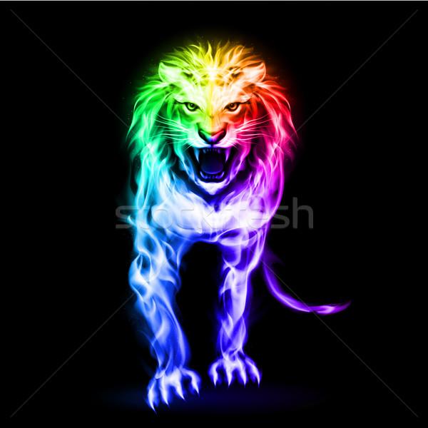 Espectro fogo leão cores preto abstrato Foto stock © dvarg