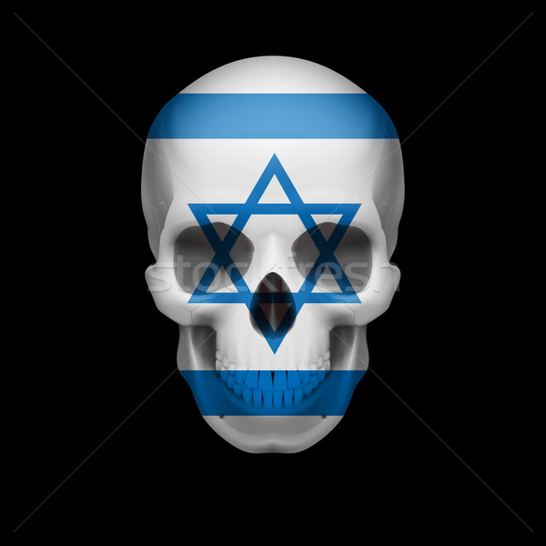 Israeli flag skull Stock photo © dvarg