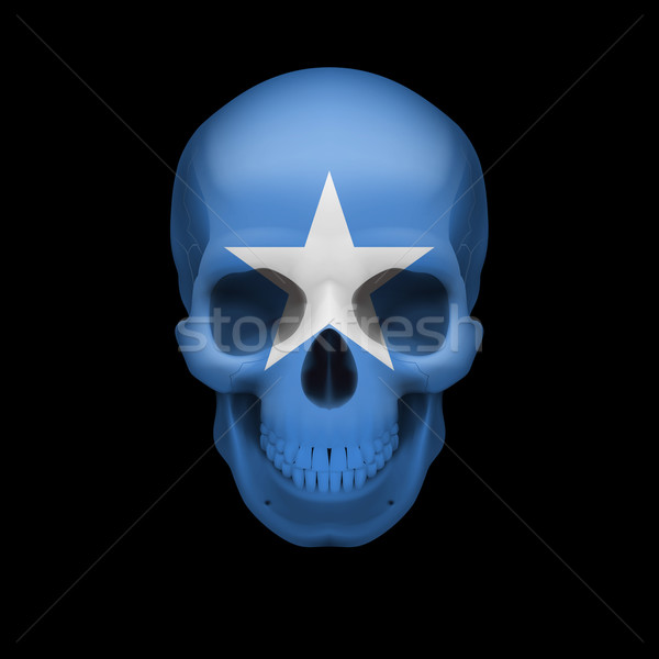 Somalian flag skull Stock photo © dvarg