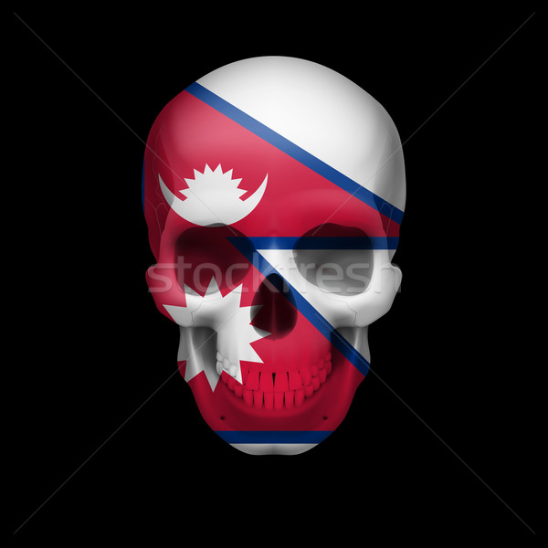Nepalese flag skull Stock photo © dvarg
