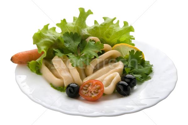 Salad with Calamari Rings Stock photo © dvarg