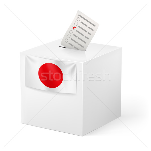 Ballot box with voicing paper. Japan. Stock photo © dvarg