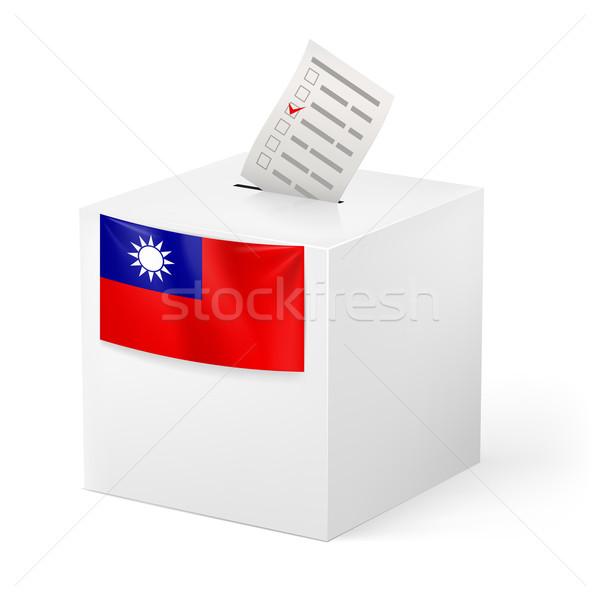 Oylama kutu kâğıt Tayvan seçim Stok fotoğraf © dvarg