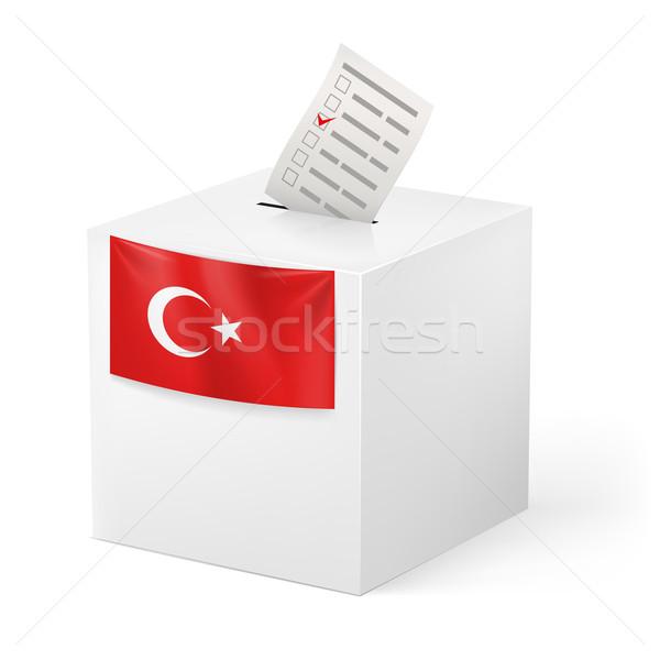 Oylama kutu kâğıt Türkiye seçim yalıtılmış Stok fotoğraf © dvarg