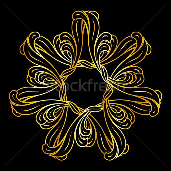 Golden floral pattern Stock photo © dvarg