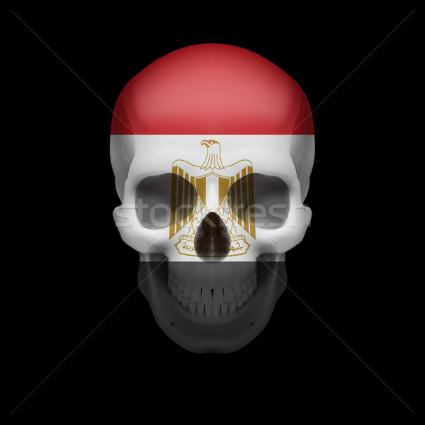 Egyptian flag skull Stock photo © dvarg