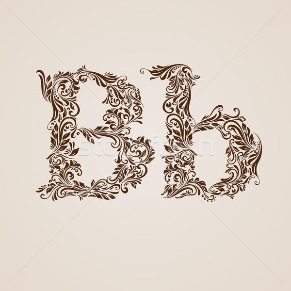 Decorated letter b Stock photo © dvarg