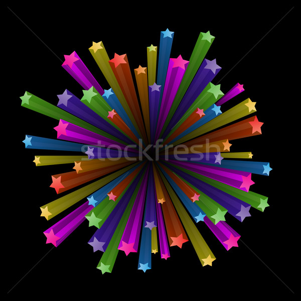 Colorful stars explode Stock photo © dvarg