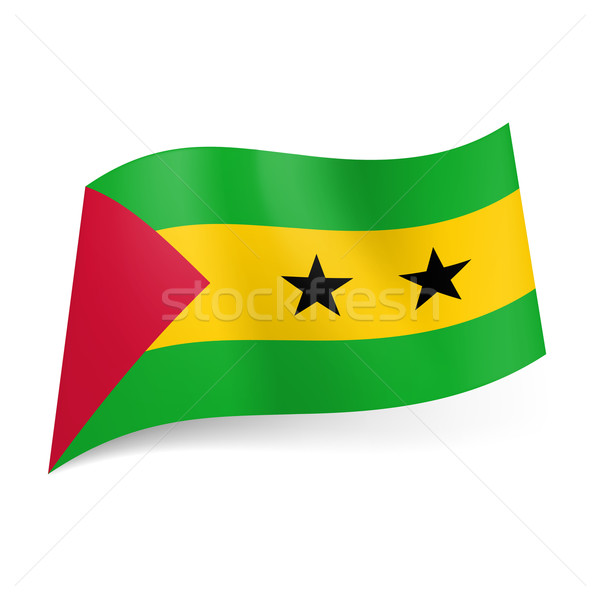 State flag of Sao Tome and Principe. Stock photo © dvarg