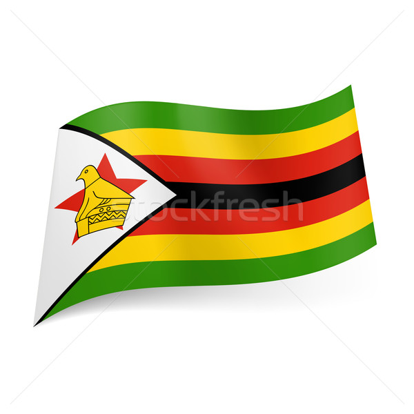 State flag of Zimbabwe Stock photo © dvarg
