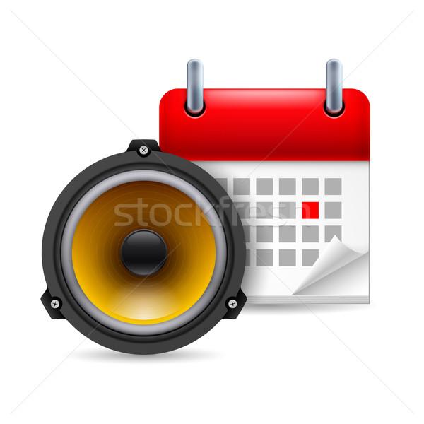 звук оратора календаря икона день вечеринка Сток-фото © dvarg